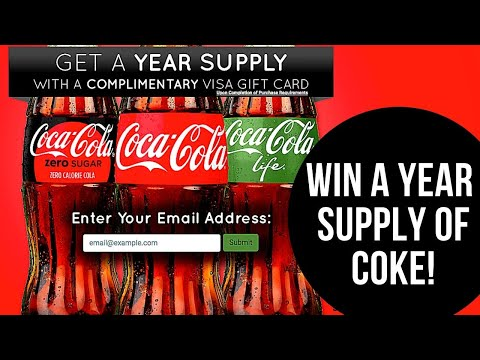 Win a year supply of Coca Cola